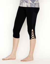 Lace up perfect capri