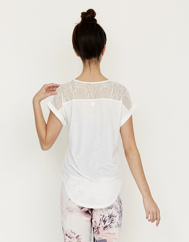 Lacy shoulder top