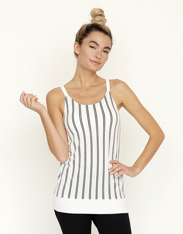 Striped racer back cami