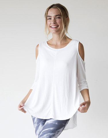 Cold shoulder A line top