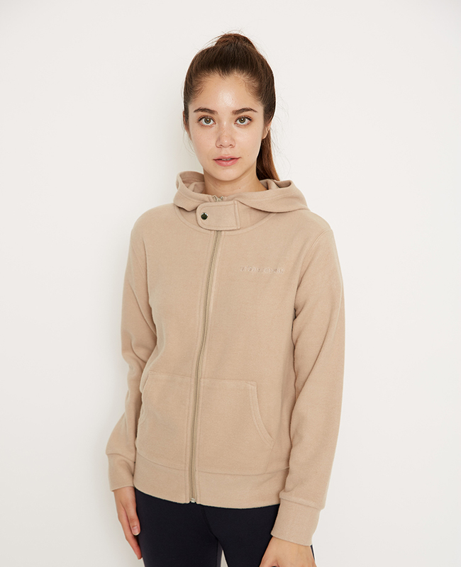Stand Collar cozy zip up hoodie