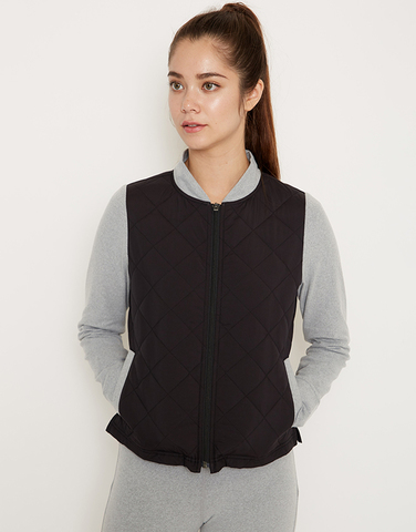 Smooth arm quilted jacket