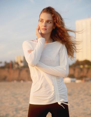 Side drawstrings L/S top